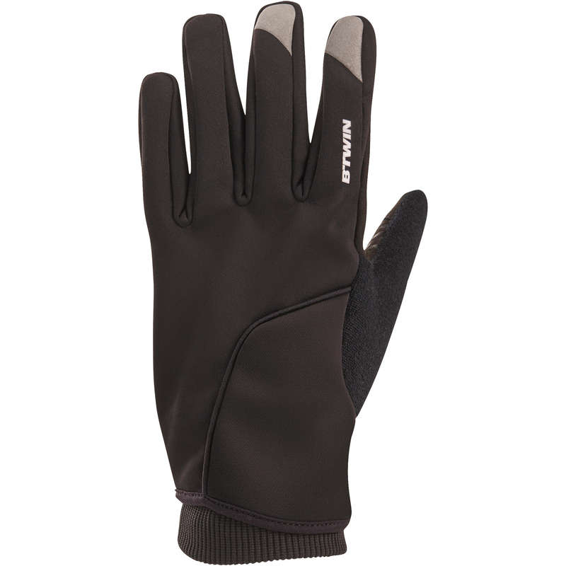 COLD WEATHER ROAD CYCLING GLOVES Cycling - RC 500 Winter Cycling Gloves - Black TRIBAN - Clothing