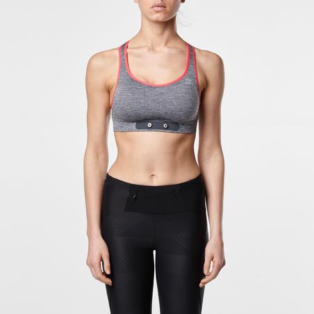 """Trumpi sportiniai marškinėliai bėgimui """"Cardio"""" ‒ pilkai rožiniai"""