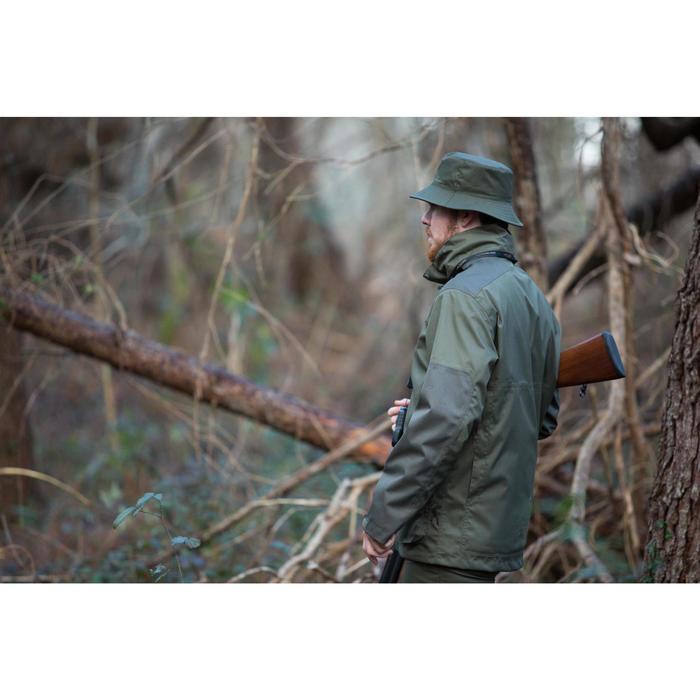 Veste chasse imperméable renfort 100 vert - 1032129