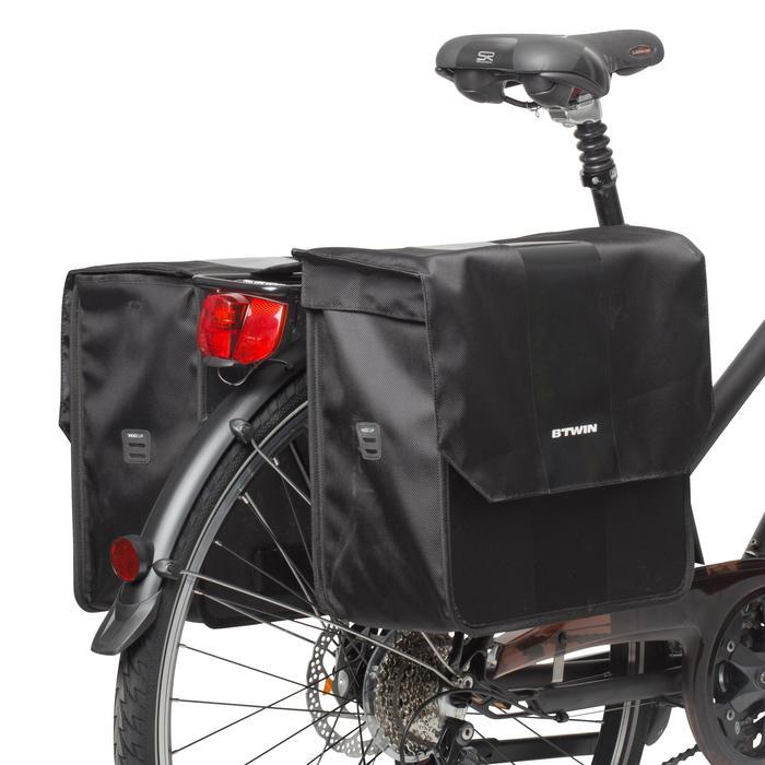 Dubbele fietstas 500 2x20l zw.
