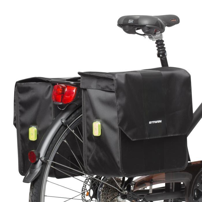 Doppel-Fahrradtasche Gepäcktasche 500 2 × 20 Liter schwarz