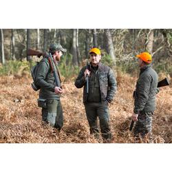 Gewatteerde jagersjas 100 camouflage groen