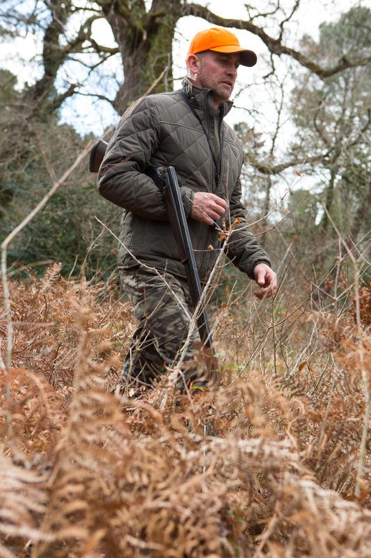 Chaqueta acolchada caza 100 verde