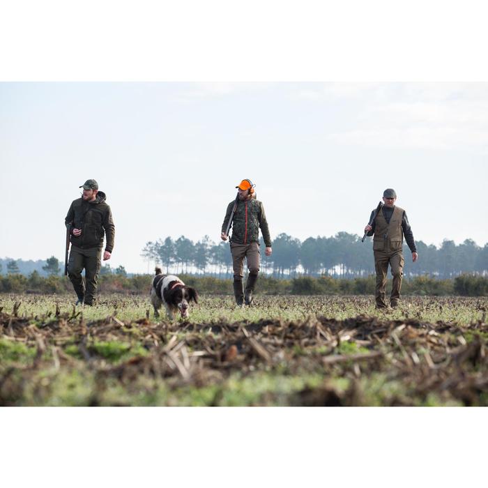 Chaleco acolchado caza 100 verde