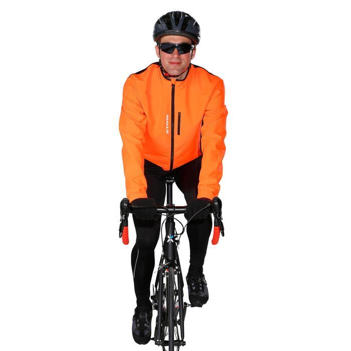 Lange fietsbroek 100 zonder bretels heren wielrennen wielertoerisme zwart