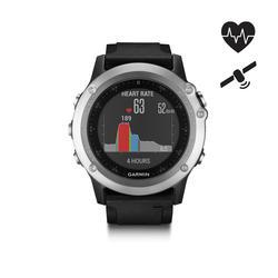 Gps-horloge multisport hartslagmeting aan pols Fēnix 3 HR zilver