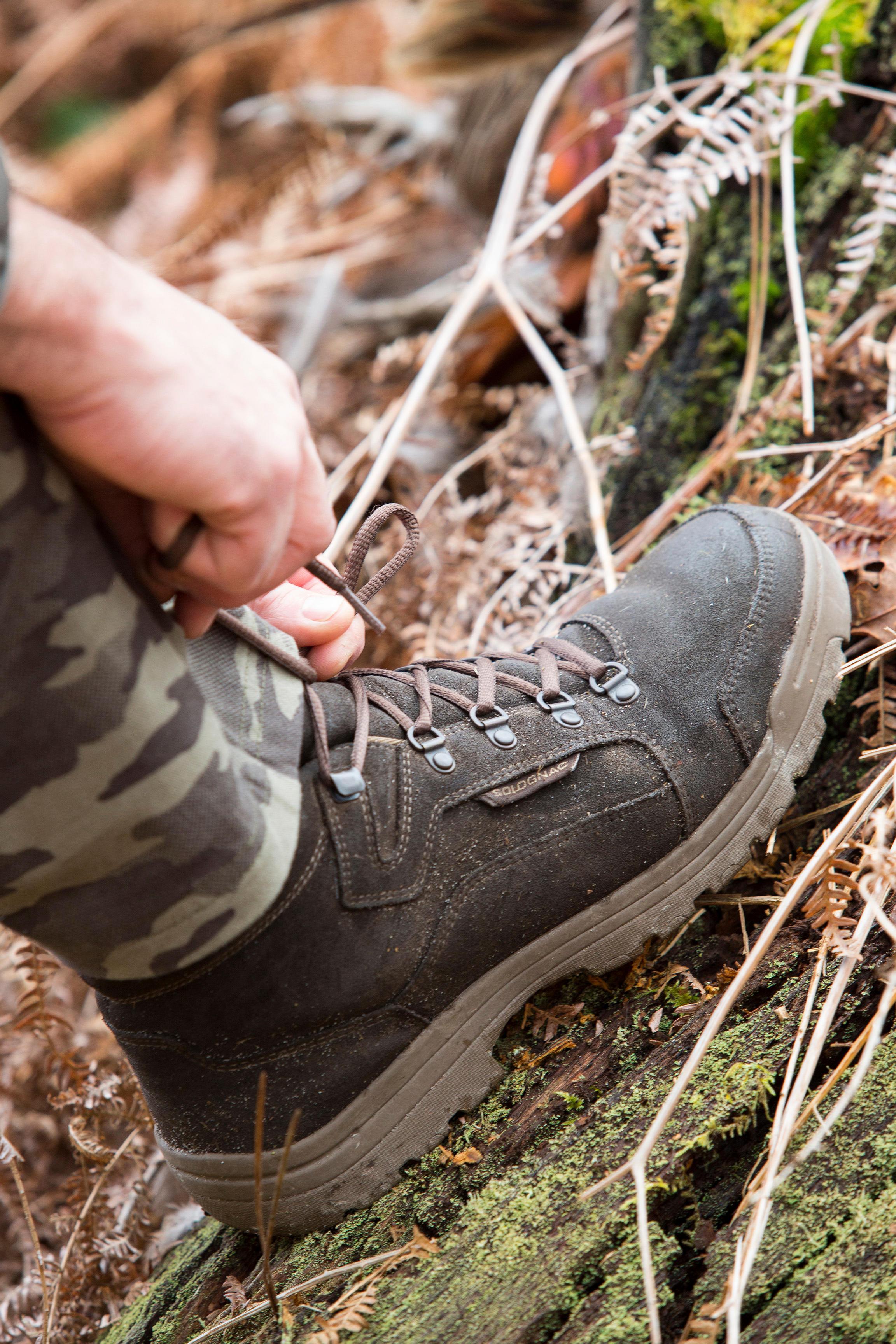 Chaussure chasse light 500 imperméable marron