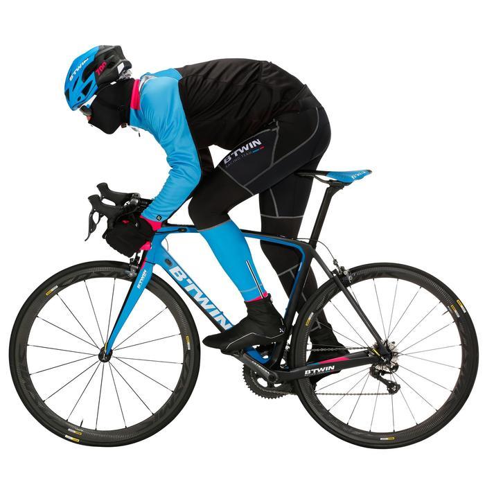 Fahrradschuhe Rennrad 900 Aerofit Carbon schwarz/weiß