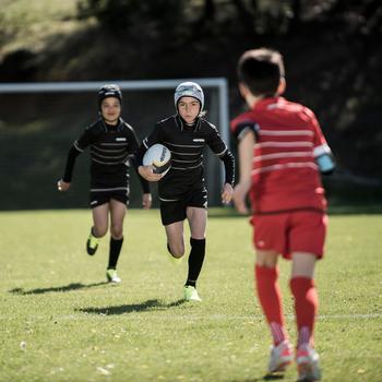 Rugbyshorts R100 Kinder rot