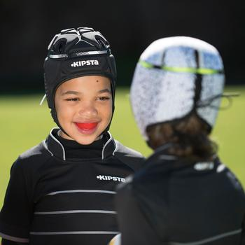 Scrum Cap Rugby Kopfschutz Full H500 Erwachsene schwarz