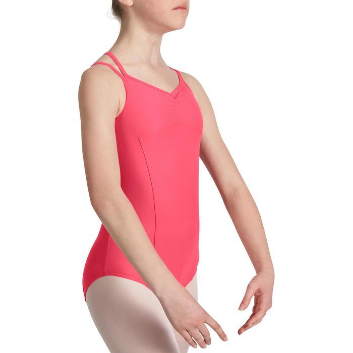 Justaucorps de danse classique fines bretelles fille SYLVIA blanc - 1032692