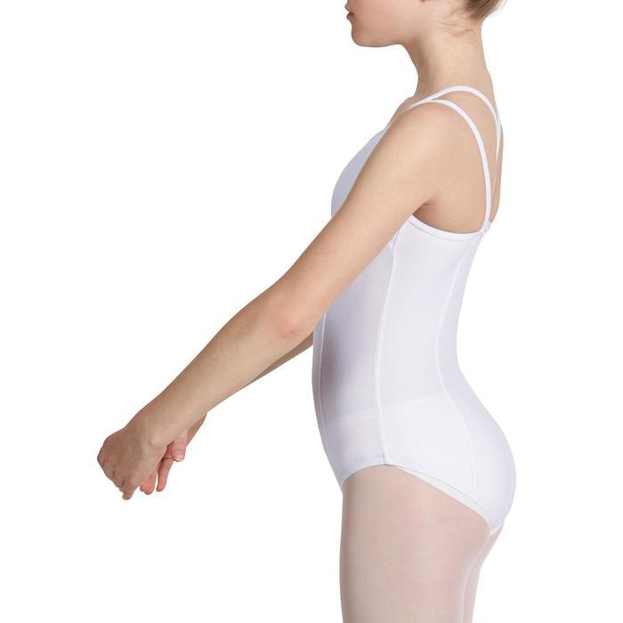 Justaucorps de danse classique fines bretelles fille SYLVIA blanc - 1032695
