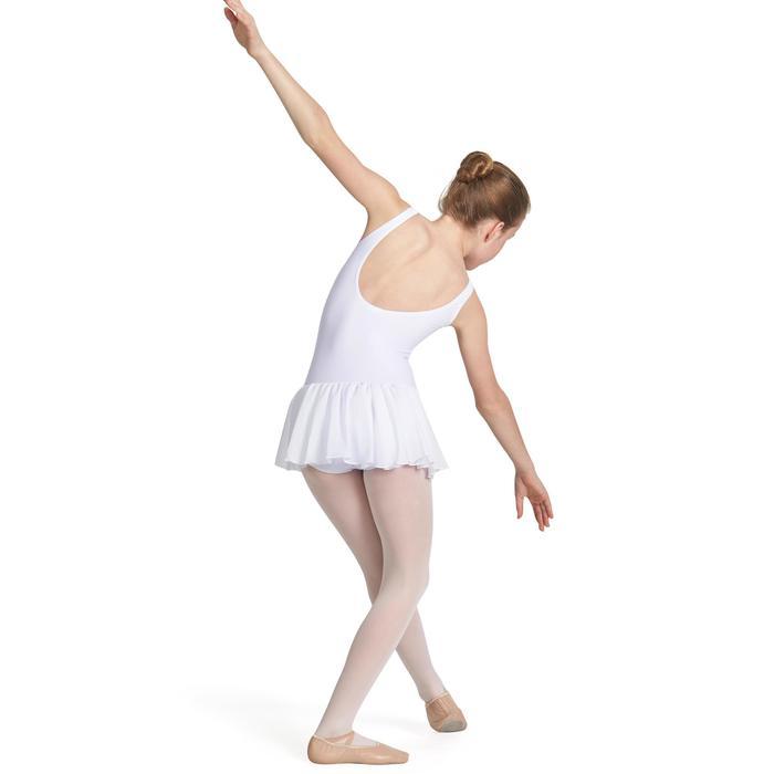 Justaucorps de danse classique DÉLIA avec jupette intégrée fille - 1032697