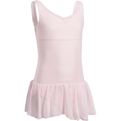 e64016fc4942 Delia Girls  Ballet Leotard with Integrated Skirt - Pink