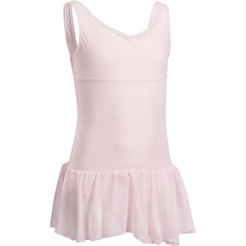 Delia Girls' Ballet Leotard with Integrated Skirt - Pink
