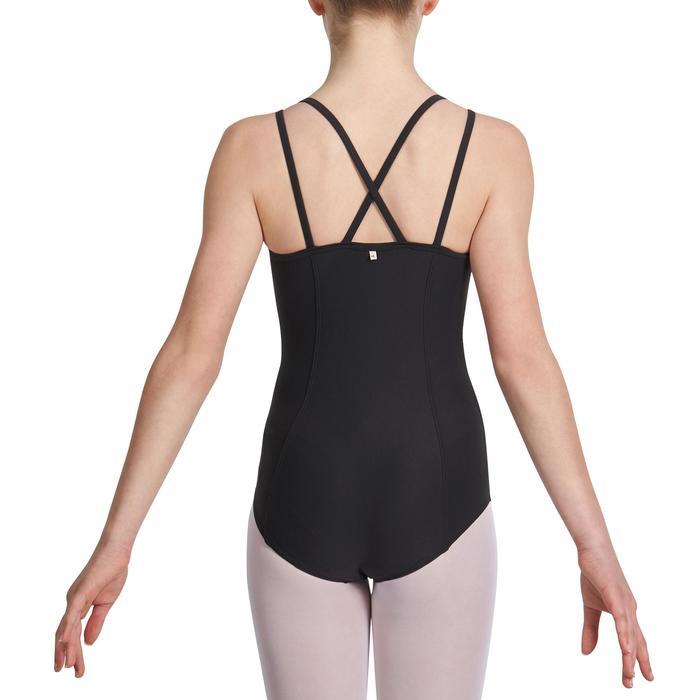 Justaucorps de danse classique fines bretelles fille SYLVIA blanc - 1032706