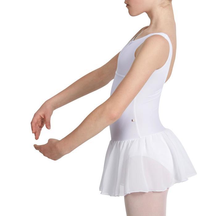 Justaucorps de danse classique DÉLIA avec jupette intégrée fille - 1032707