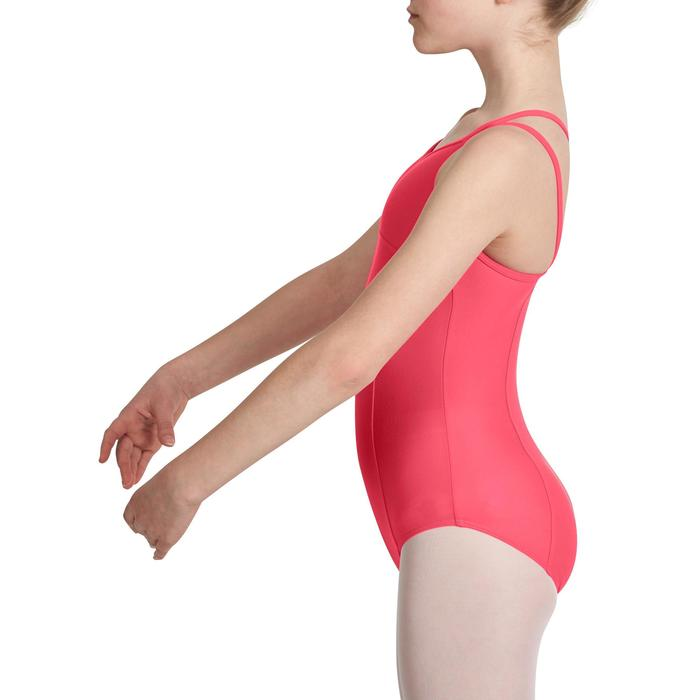 Justaucorps de danse classique fines bretelles fille SYLVIA blanc - 1032737