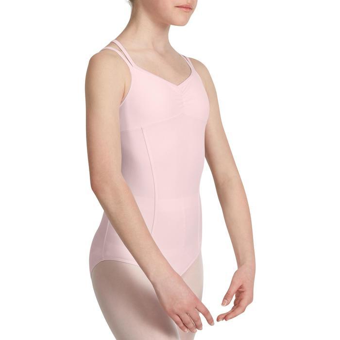 Justaucorps de danse classique fines bretelles fille SYLVIA blanc - 1032738