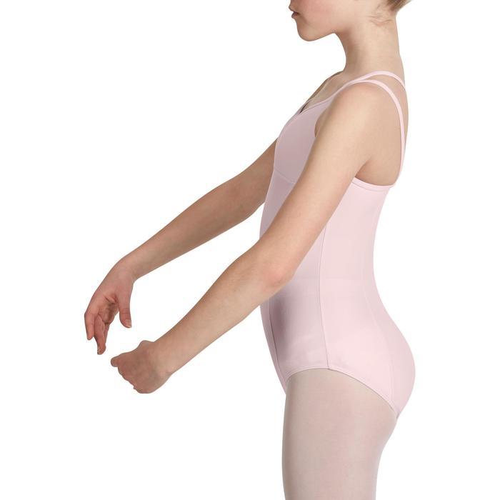 Justaucorps de danse classique fines bretelles fille SYLVIA blanc - 1032742