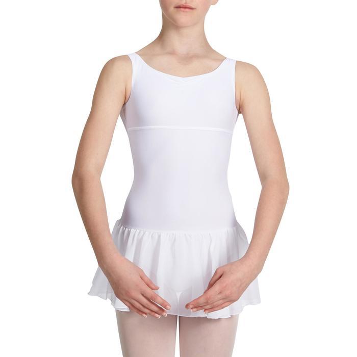 Justaucorps de danse classique DÉLIA avec jupette intégrée fille - 1032747