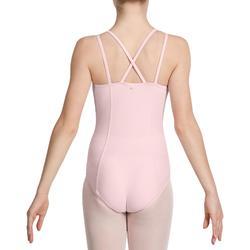 Justaucorps de danse classique fines bretelles fille SYLVIA rose pâle