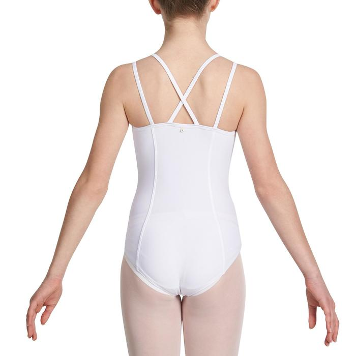 Justaucorps de danse classique fines bretelles fille SYLVIA blanc - 1032755