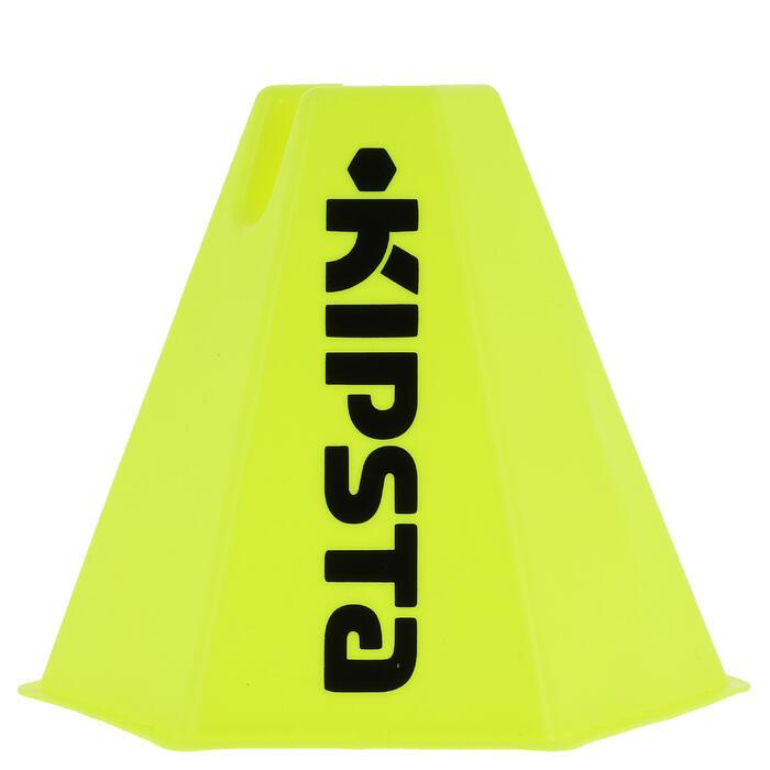 Lot 6 cônes modulables 15 cm jaunes - 103276
