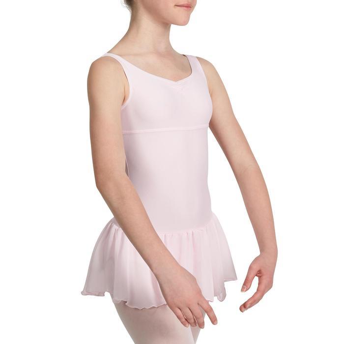 Maillot de danza clásica con faldita integrada niña DELIA rosa