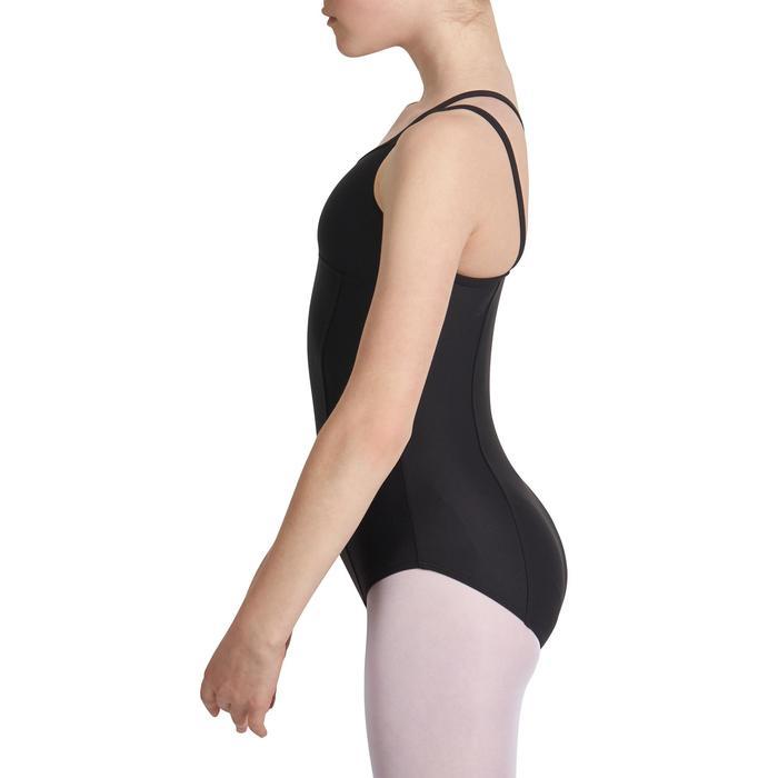 Justaucorps de danse classique fines bretelles fille SYLVIA blanc - 1032771
