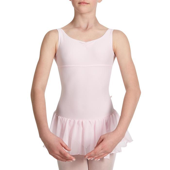 Justaucorps de danse classique DÉLIA avec jupette intégrée fille - 1032792