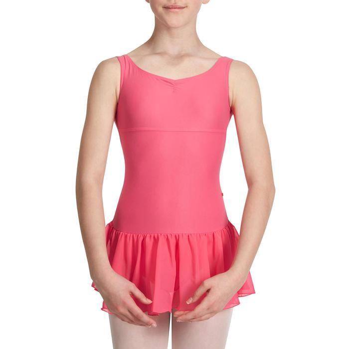 Justaucorps de danse classique DÉLIA avec jupette intégrée fille - 1032797