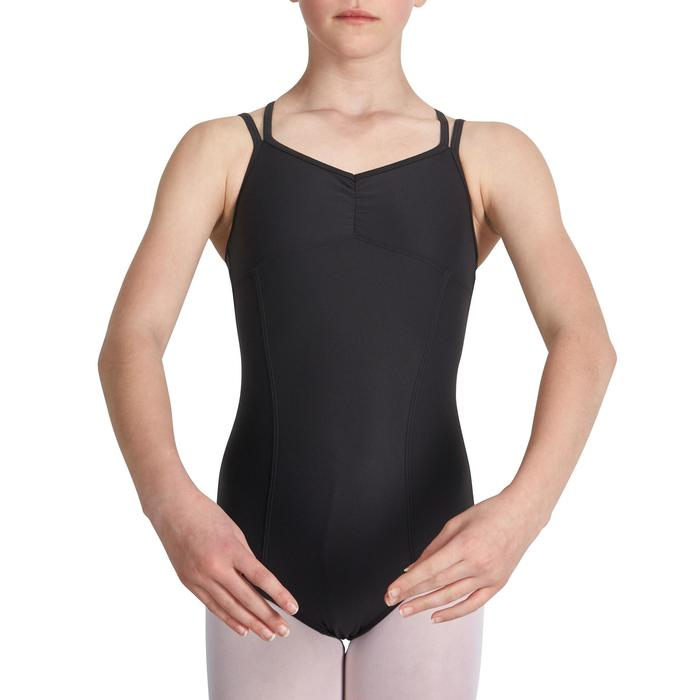 Justaucorps de danse classique fines bretelles fille SYLVIA blanc - 1032812