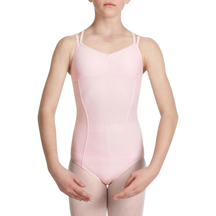 Justaucorps de danse classique fines bretelles fille SYLVIA blanc - 1032820