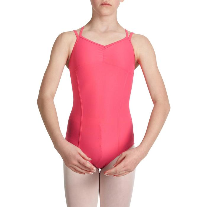 Justaucorps de danse classique fines bretelles fille SYLVIA blanc - 1032842