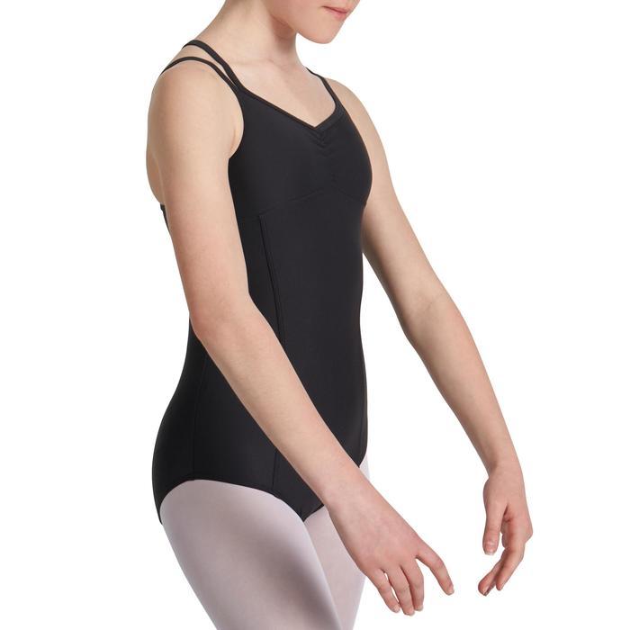 Justaucorps de danse classique fines bretelles fille SYLVIA blanc - 1032854