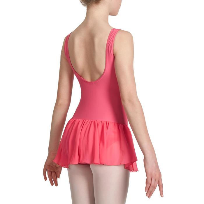 Justaucorps de danse classique DÉLIA avec jupette intégrée fille - 1032856