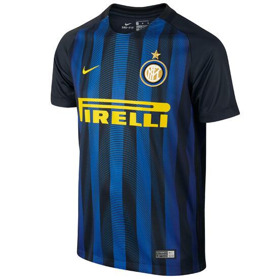 Voetbalshirt voor kinderen, replica Inter Milan marineblauw - 1032969