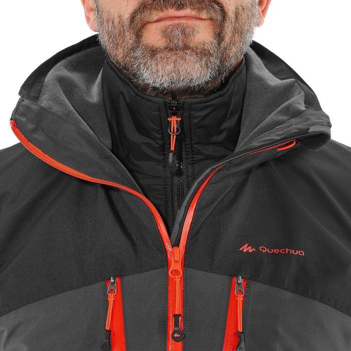 RAINWARM 500男款三合一防雨保暖健行外套-黑色