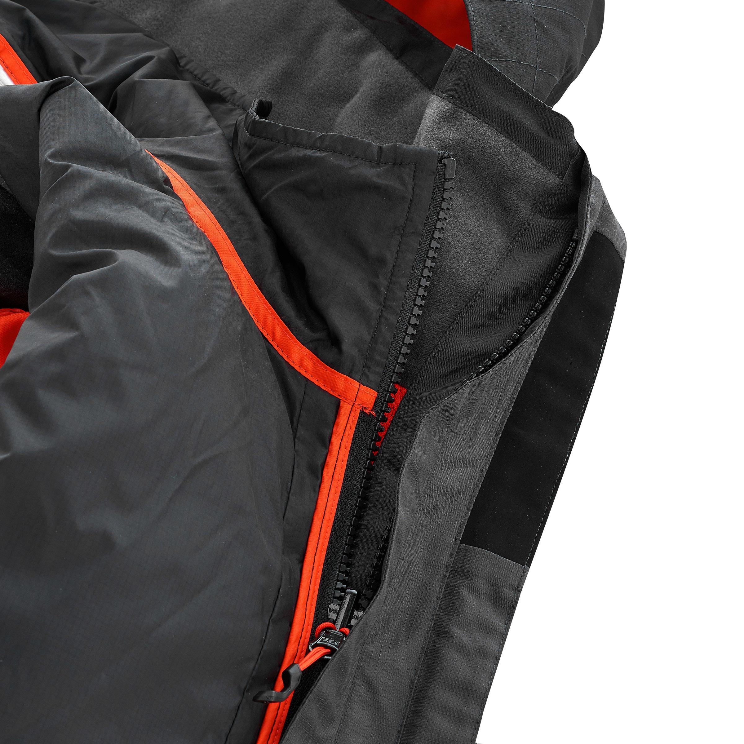 Men's 3 in 1 Waterproof Travel Jacket Travel 500 -black