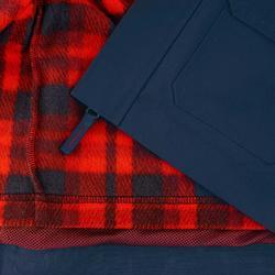 Waterdichte warme jas voor trekking jongens Hike 500 3-in-1 marineblauw - 1033194