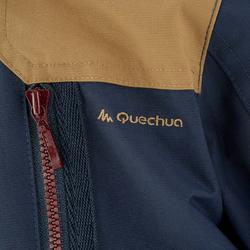 Waterdichte warme jas voor trekking jongens Hike 500 3-in-1 marineblauw - 1033216