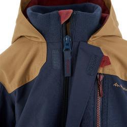 Waterdichte warme jas voor trekking jongens Hike 500 3-in-1 marineblauw - 1033230