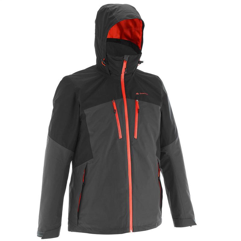 Veste trekking Rainwarm 500 3en1 homme noir