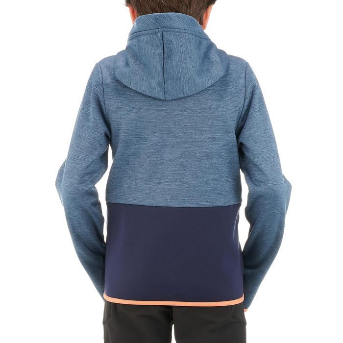 Veste polaire de randonnée Garçon HIKE 550 bleu