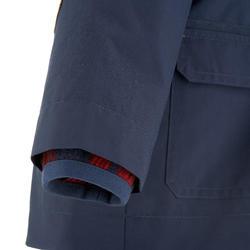 Waterdichte warme jas voor trekking jongens Hike 500 3-in-1 marineblauw - 1033291