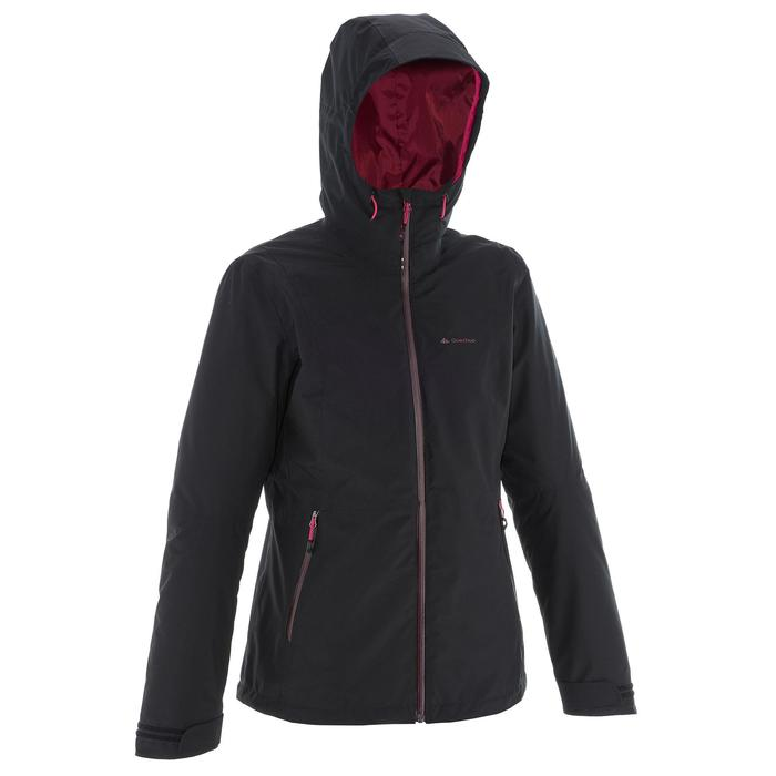 3-in-1 damesjas voor trekking Rainwarm 500 zwart