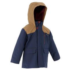 Waterdichte warme jas voor trekking jongens Hike 500 3-in-1 marineblauw - 1033325