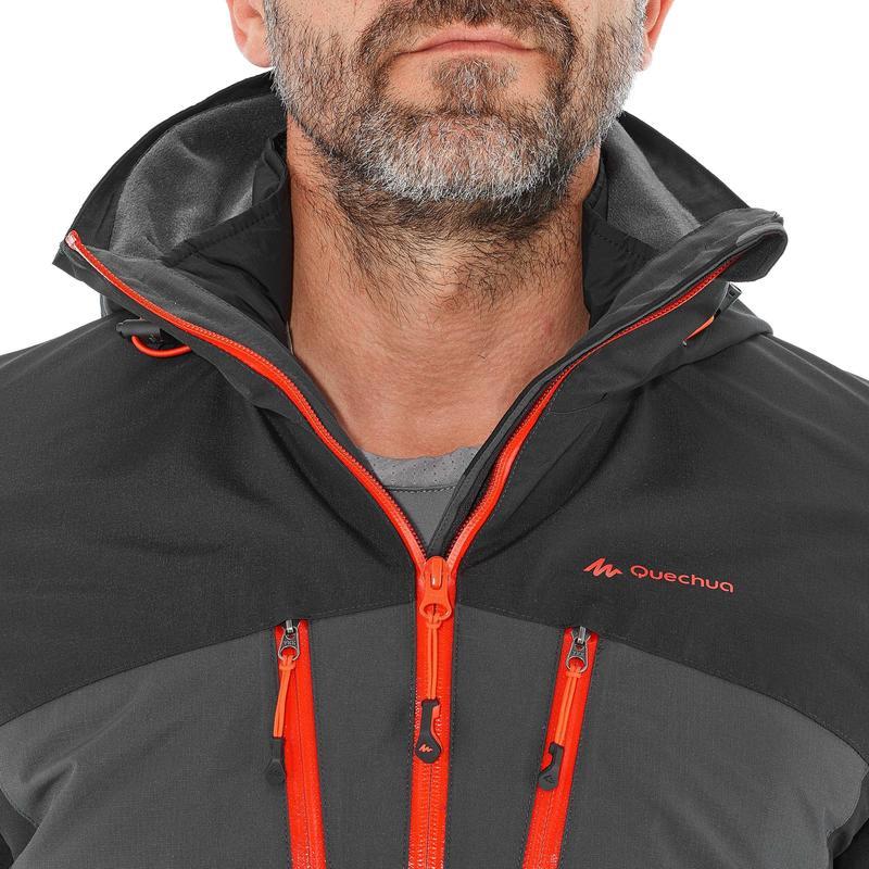 Chaqueta trekking Rainwarm 500 3 en 1 hombre negra