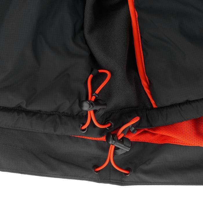 3-in-1 herenjas voor trekking Rainwarm 500 zwart